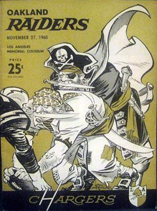 1960 AFL Game Program - Oakland Raiders vs. Los Angeles Chargers