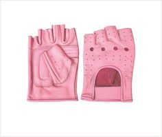 Pink Fingerless Leather Motorcycle Gloves by Allstate Leather. http://www.mymotorcycleclothing.com/