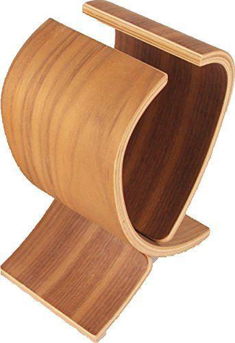 Samdi Original Universal Kopfh�rer St�nder Echtes Holz Kopfh�rerhalterung Kopfh�rerstand Headsets Stand Kopfh�rer Halter Headphones Stand, Walnussbaum