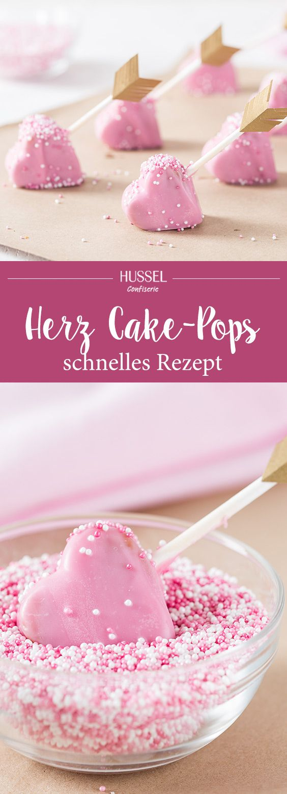 Süße Herz Cake-Pops - Hussel Confiserie