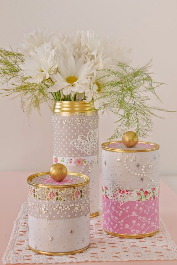 Molly Mell: DIY upcycled tin can storage