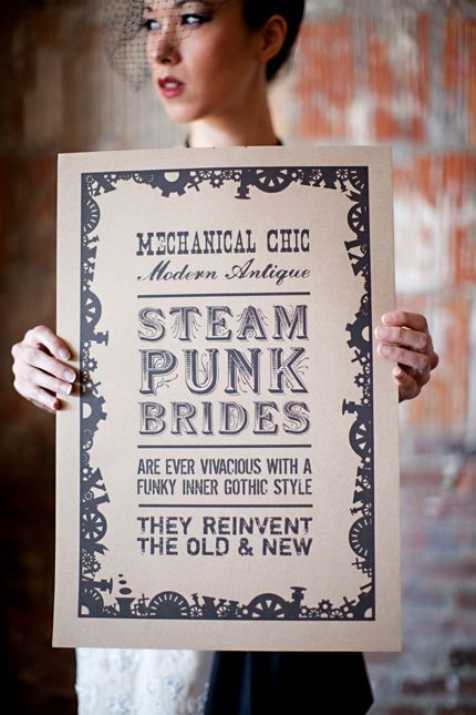 Steampunk Designed Poster for our Steampunk Bridal Inspiration Shoot