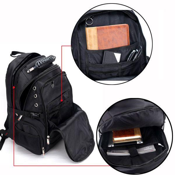 Men Bag, Oxford Leather Big Capacity, Travel Outdoor Laptop Bag, Waterproof Shoulders Bag Backpack