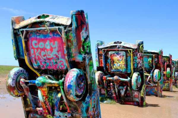 Cadillac Ranch #rainday #rainstorms #texas #amarillo #amarillobymorning #route66 #travel #photography #canon #canonrebelT5 #canonphotography