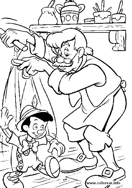 nemo coloring pages to print | ... print of gepeto ensena a andar a pin to color page pictures to print
