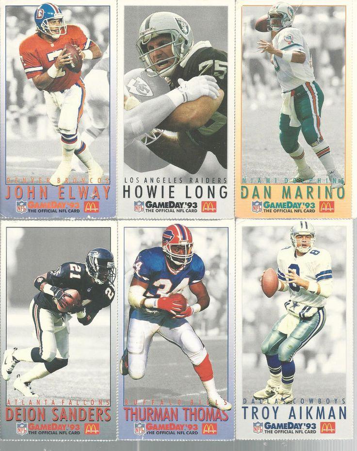 John Elway Howie Long Lot Of 28  Fleer McDonalds Game Day 1993 Football Card #Fleer #all