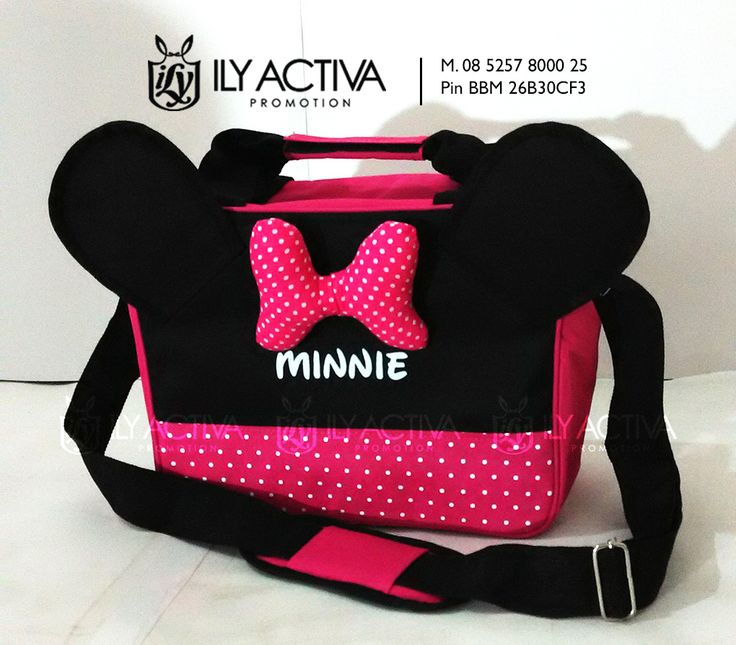 Minnie Mouse Special Edition. Uk 20x28x13.5cm. Bahan Dinier Soft, spons dalaman, furing nilon (tahan air). Bantalan bahu. SOLD OUT!!