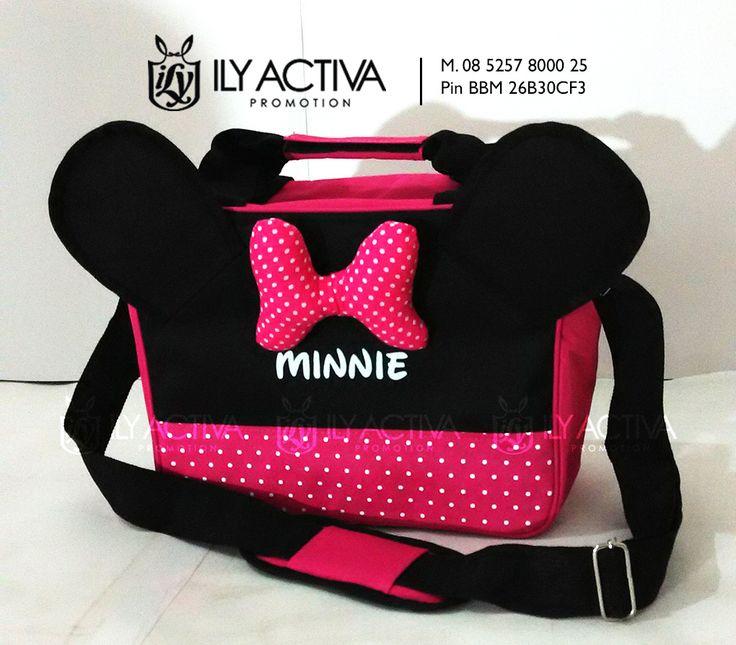 Minnie Mouse Special Edition. Uk 20x28x13.5cm. Bahan Dinier Soft, spons dalaman, furing nilon (tahan air). Bantalan bahu. SOLD OUT!!