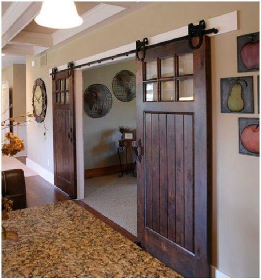 sliding barn doors in house - Google Search