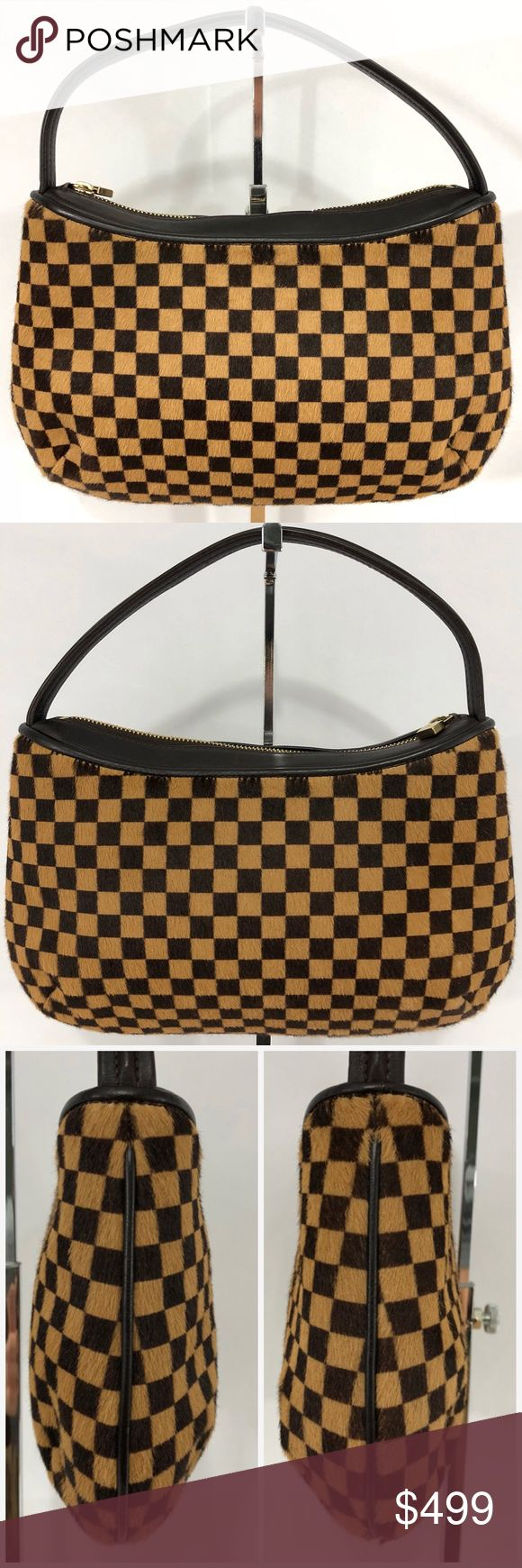 Authentic Damier Sauvage Tiger Stunning damier ebene in a soft pony hair. The only flaw is small bald patch not easily seen by naked eye. Please see photo. Approximate dimensions are 10 inches long 6.75 inches tall with strap being 11 inches. Guaranteed authenticity by Poshmark's authenticity policy. No trades please. Louis Vuitton Bags Satchels