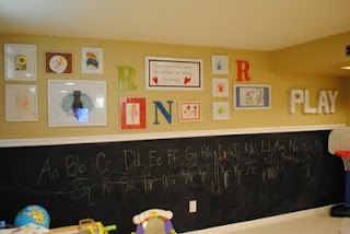 Love the chalkboard paint for a playroom!Basements Playrooms, Play Rooms, Chalkboard Walls, Chalkboards Painting, Chalkboard Paint, Naptime Decor, Chalk Boards, Plays Room, Chalkboards Wall