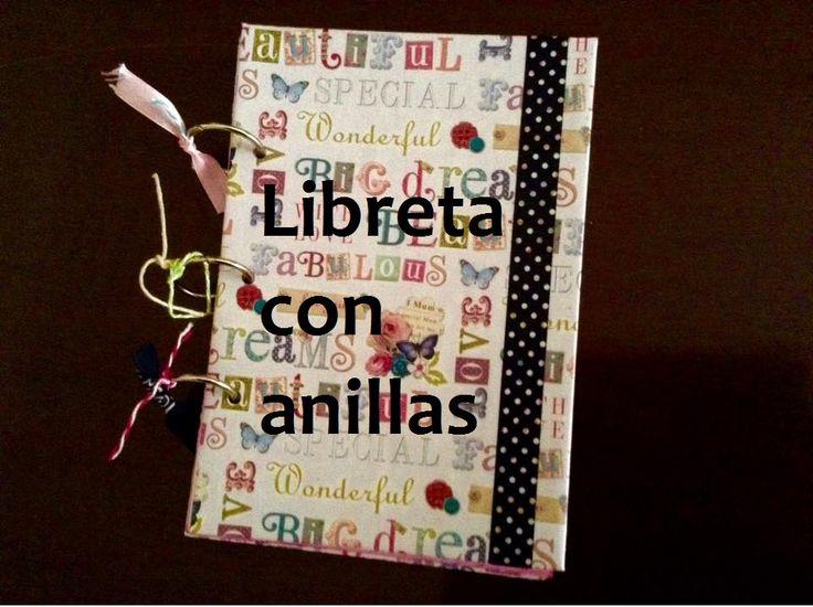 Como hacer y decorar una libreta con anillas #manualidades #scrap