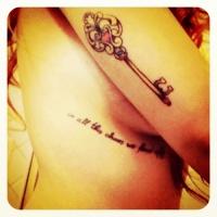 Cute Black Side Rib Quote Tattoos for Girls - Sexy Side Rib Quote Tattoos for Girls