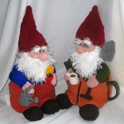 DIY Gnomes! : http://www.ravelry.com/patterns/library/gnome-tea-cosy-and-toy-gnome    Thanks to Better Gnomes & Cauldrons - https://www.facebook.com/pages/Better-Gnomes-Cauldrons/302197149876116