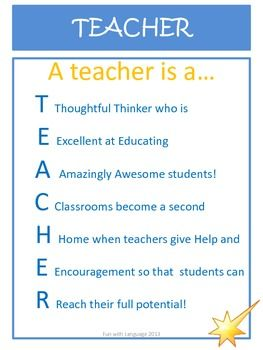 Two Cute Acrostic Poems To Use An Example For Students So Helpful