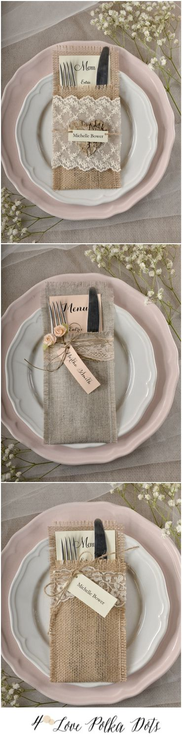Original Wedding Menu #menu #wedding #pink #eco #burlap #boho #bohemian #pink #weddingideas #stationery