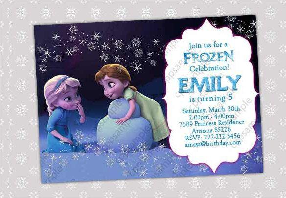 Frozen Party Invitations Template In 2019 Frozen