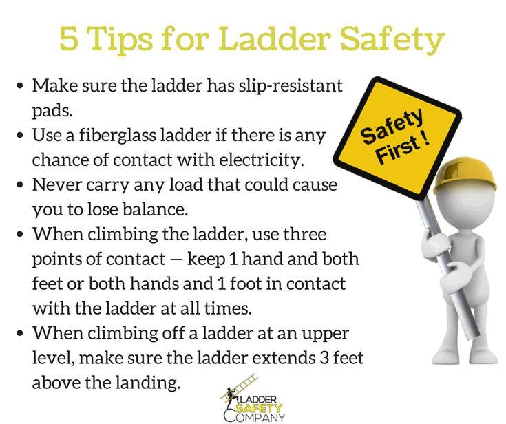 Best 25 safety ladder ideas on pinterest loft for Ladder safety tips