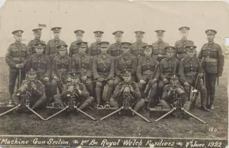 Machine Gun Section 2nd Battalion, RWF, 9th June 1922.