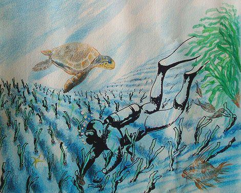 Un huerto marino de 'Posidonia'. Artículo de Elena Soto en el suplemento de ciencia de El Mundo (Baleares), B@leópolis. Investigador P. Proyecto: Dr. Jorge Terrados (Lab. de Ecología de Macrófitos Marinos, IMEDEA CSIC-UIB). http://imedea.uib-csic.es/erm/macrofitosmarinos/