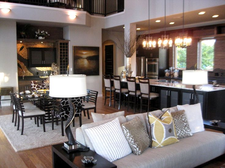The open concept kitchen and living room paint ideas Paint ideas for open living room and kitchen