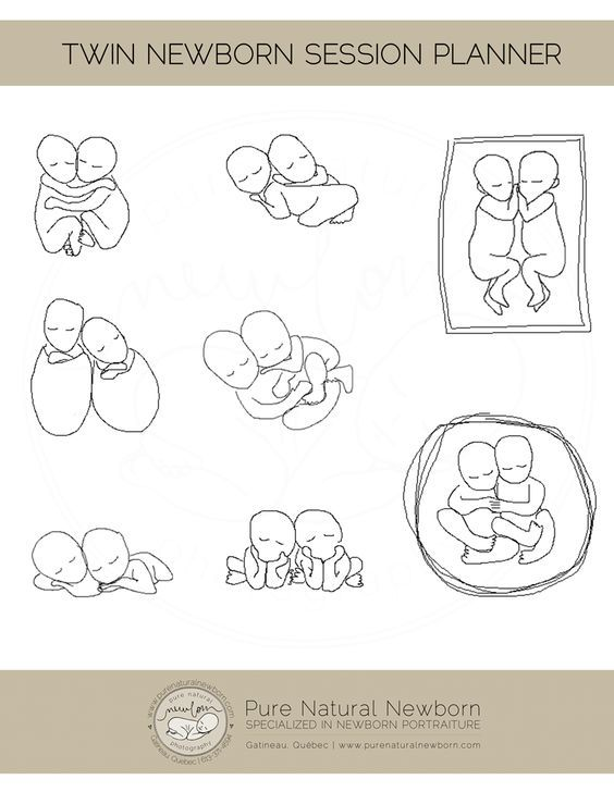 A natural flow posing diagram for twins.