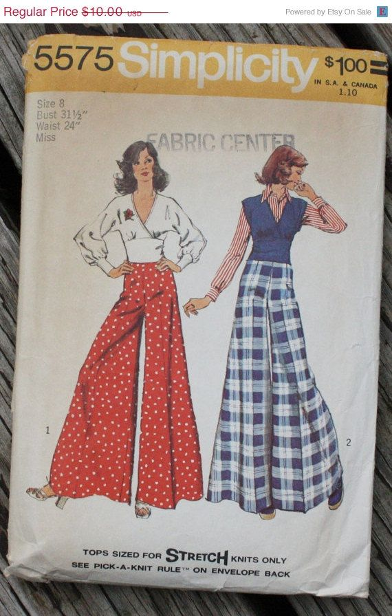 Fantastic Vintage sewing pattern from circa 1970s!   Cut, but complete with instructions.    ***Really want this pattern, but its the incorrect