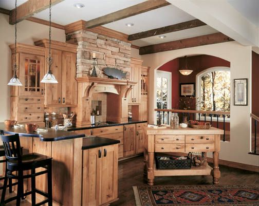 Kitchen Maple    Like The Color Of The Cabinets With The Darker Wood Floor  And