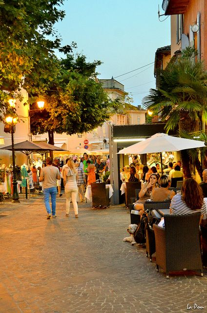 Walking Street in Saint Maxime , France