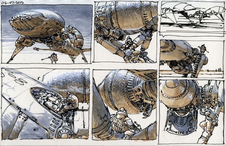 M.C.Barrett Concept Art Concept art, Spaceship art, Art