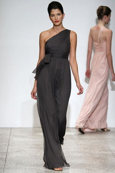 to flowy??? @Katie Smith you wanted a non-strapless long dress. Without looking like a nun, this is nice