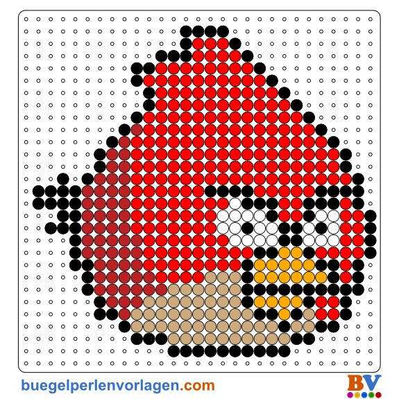 Angry Birds Perler Bead Pattern. Download more patterns at: http://www.buegelperlenvorlagen.com/en