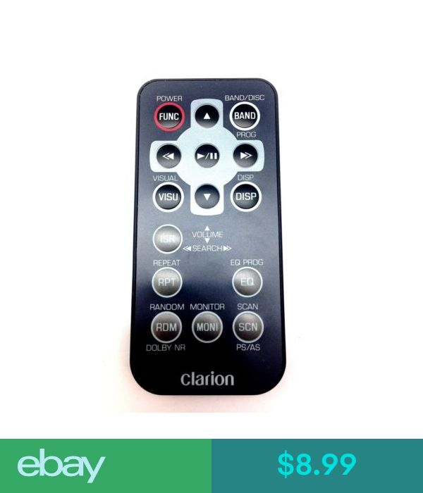 Clarion Replacement Remote Control RCB-111 for VRX8271 MAX2256 Car Stereo Audio