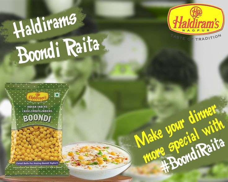 Make you dinner or lunch more special with Haldirams Boondi.