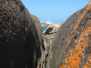 Through the 'Elephants' of Elephant Rocks William Bay National Park Denmark, Western Australia