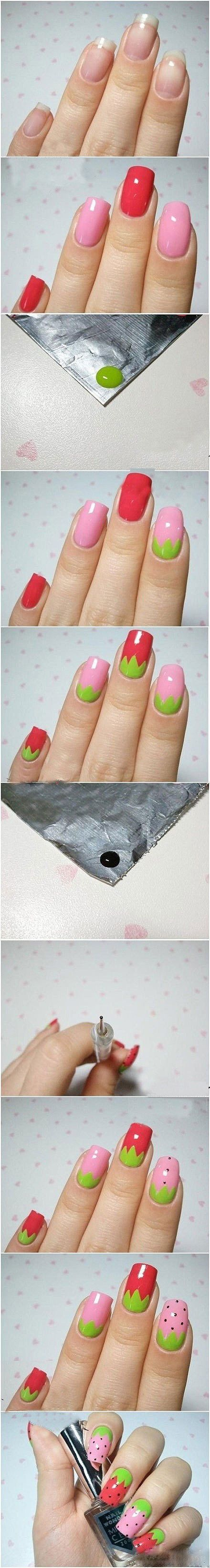 OK I'm probably never actually going to paint my nails like this ... but they're cute!