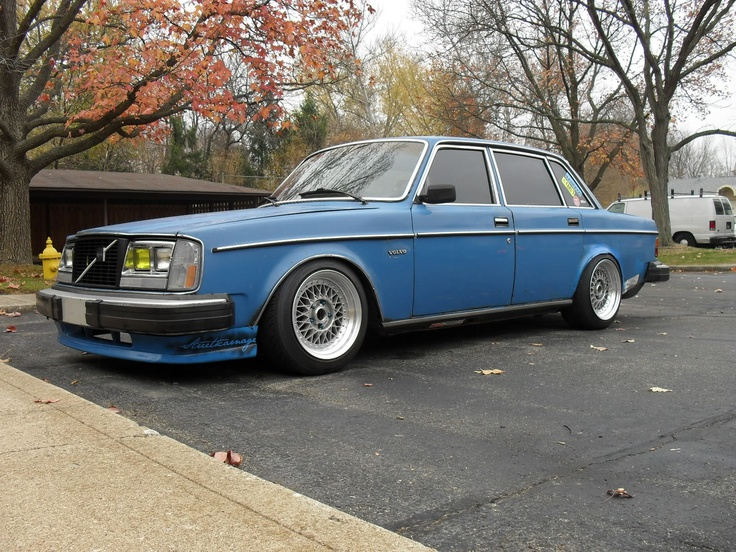 #volvo #240 #slammed #stance   240   Pinterest   Volvo, First Car and Cars