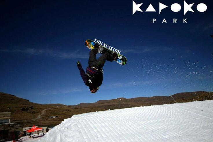 Airtime - Kapoko Park @Afriski Mountain Lodge. #Lesotho #funinthesnow #winter #sport