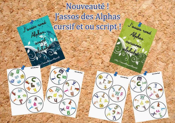 """Maternelle et Direction de yann: Nouveau J'assos : """"les alphas"""""""