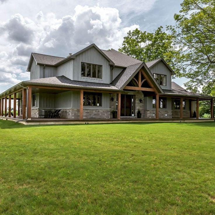 70 Fabulous Modern Farmhouse Exterior Design Ideas