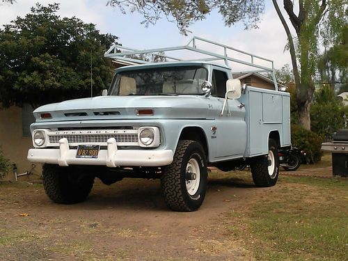 1966 Chevy K 20 4x4 Factory Original Utility Truck Us