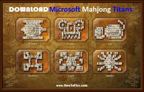 Download Microsoft Mahjong Titans Game For Windows Xp 7 8 10 Pc Howtofixx Mahjong Mahjong Online Classic Board Games