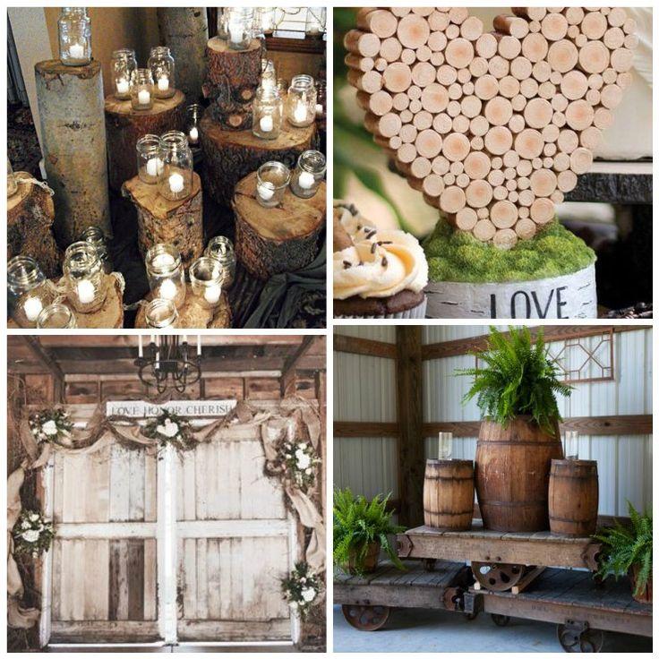 7 Easy Rustic Wedding Reception Ideas - Uniquely Yours Wedding Invitation