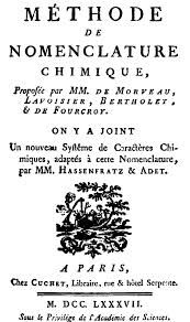 """On this day in chemistry April 17th   """"Methode de Nomenclature Chimique"""" was presented to the Paris Academy on this day in 1787 This book presented a logical system for naming chemical substances. Proposed names were based on the origin or function of each element, and led to an international consensus for naming chemicals."""