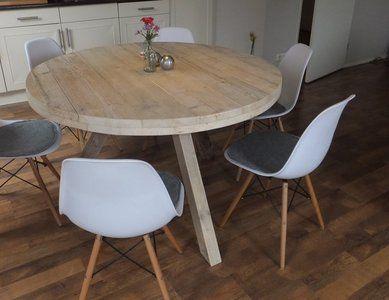 Steigerhouten ronde tafel