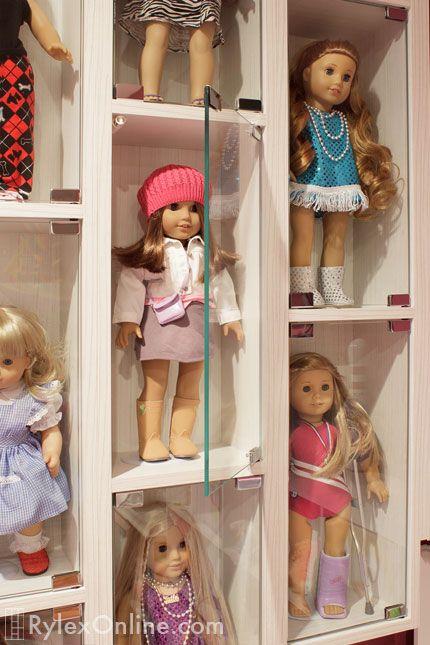 American Girl Doll Wall Mounted Display Case