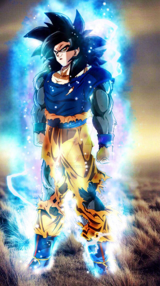 Ultra Instinct Ssj4 Goku By Gxkuh Super Saiyan Blue Goku Super Saiyan