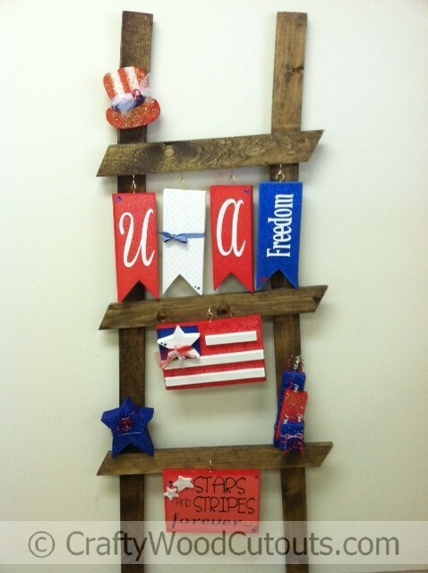 26 best images about ladder kits on pinterest for Americana crafts to make