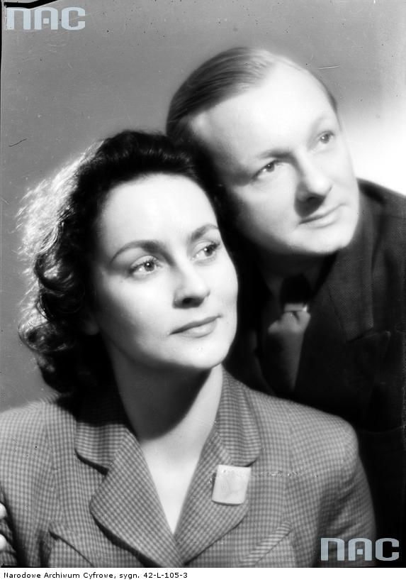 Tadeusz Fijewski z żoną Heleną Makowską