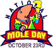 National Mole Day (October 23)- creative ideas in this article about celebrating Mole Day